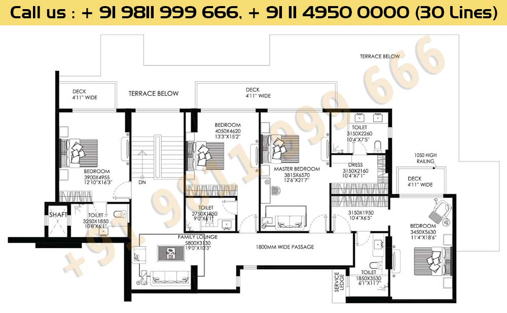 DLF Crest Block B Penthouse Floor Plan