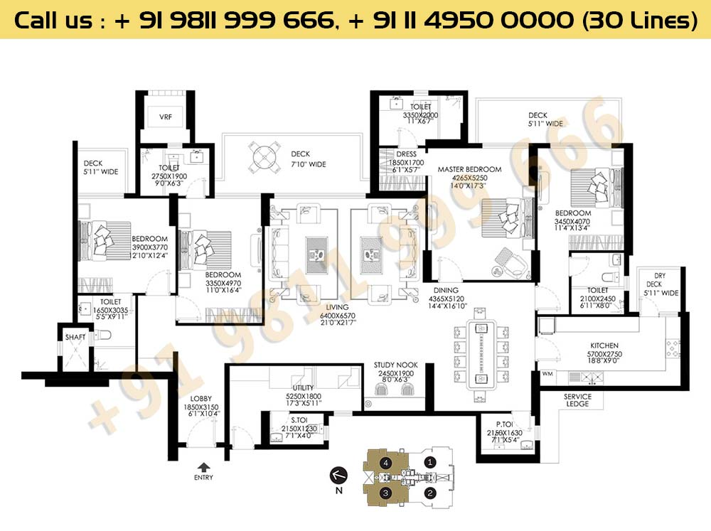 DLF Crest Block C Apartments Floor Plan