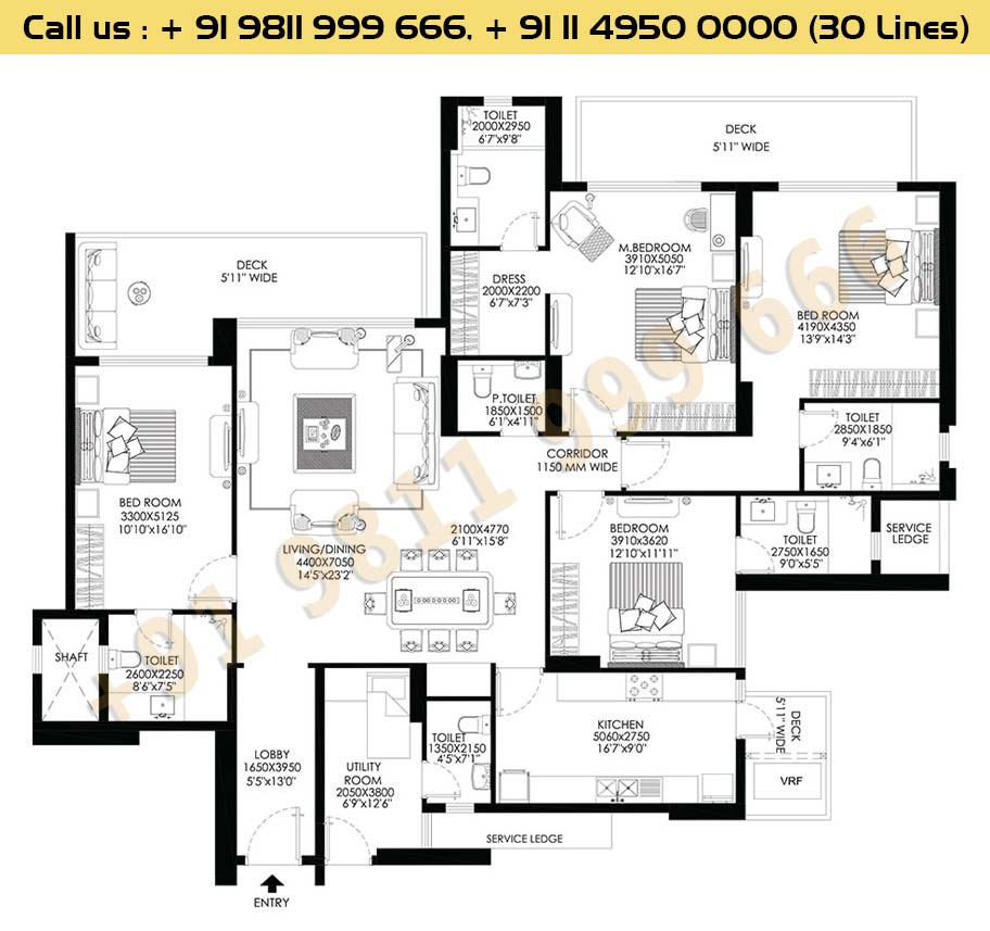 DLF Crest Block D Floor Plan