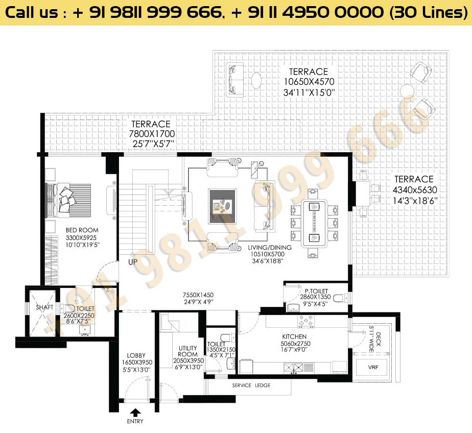 DLF Crest Block D Pentouse Floor Plan
